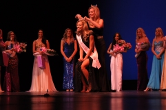 Mary Katherine Fetchel is crowned Miss UF by her sister and former Miss UF Elizabeth Fetchel at the Miss UF Pageant on Monday, February 16, 2015.
